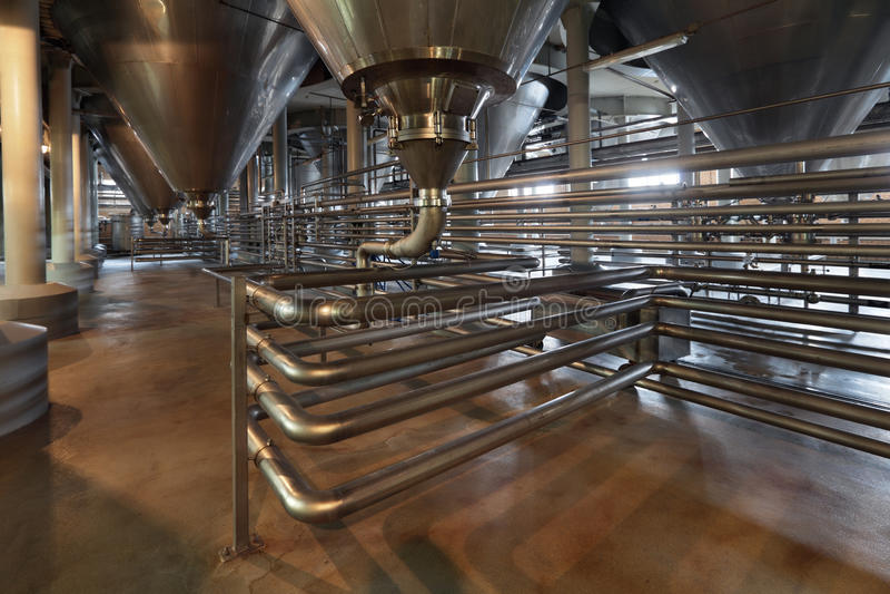 Fermentation department royalty free stock photos