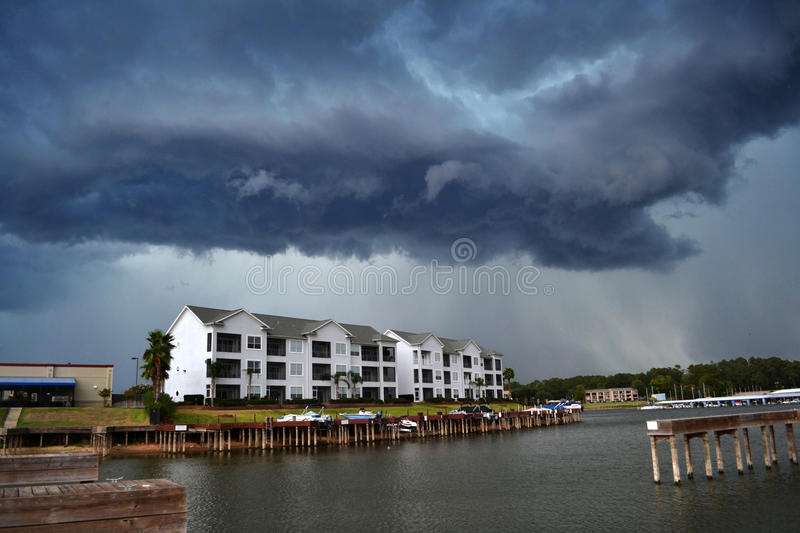 Download A Brewing Storm stock image. Image of docks, lake, thunder - 23017111