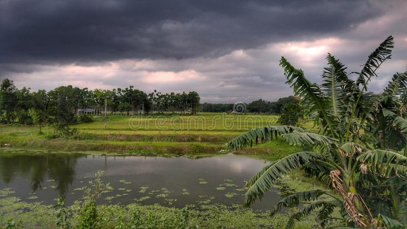 Brewing Storm Nor`wester , Bangladesh royalty free stock photography