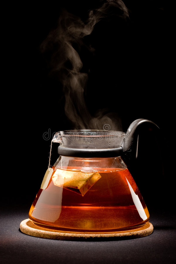 Download Brewing of tea stock photo. Image of steam, black, glass - 8431512