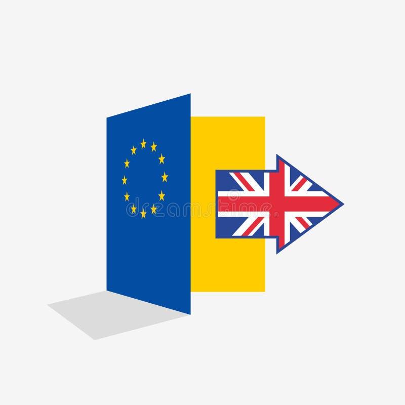 Brexit门政治问题例证隐喻  向量例证
