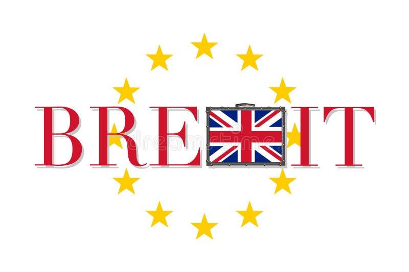 Brexit传染媒介例证隔绝了 皇族释放例证