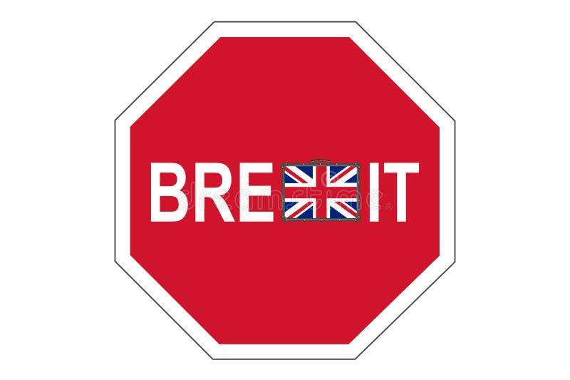 Brexit传染媒介例证隔绝了 向量例证