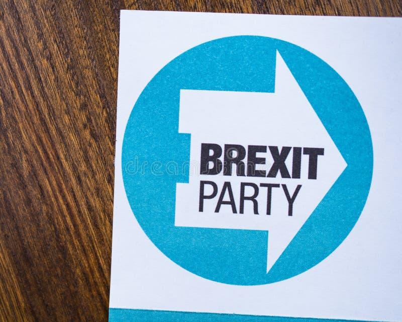 Brexit党 免版税库存照片