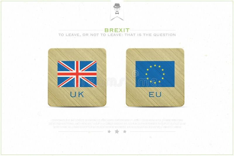 Brexit徽章 向量例证