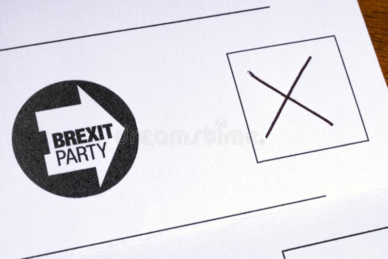 Brexit按照党之政策的投票 免版税库存照片