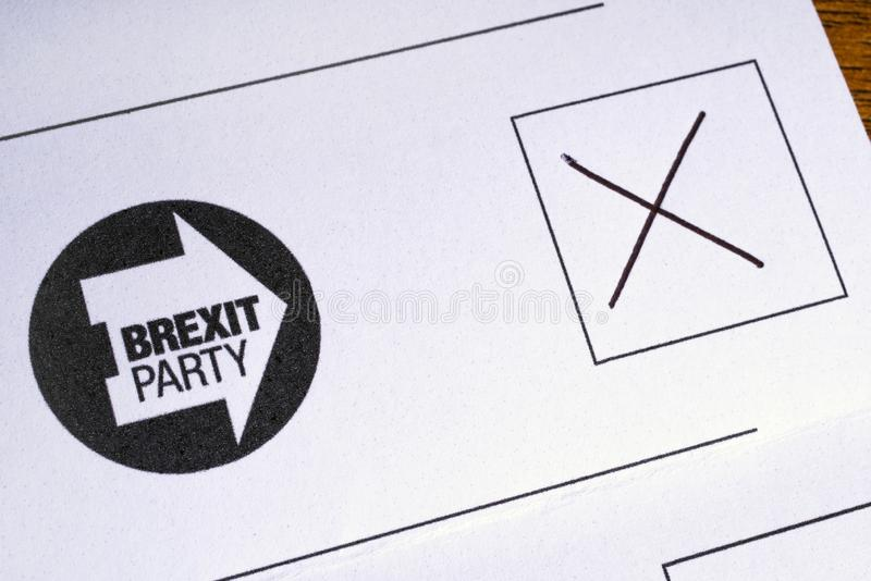 Brexit按照党之政策的投票 图库摄影