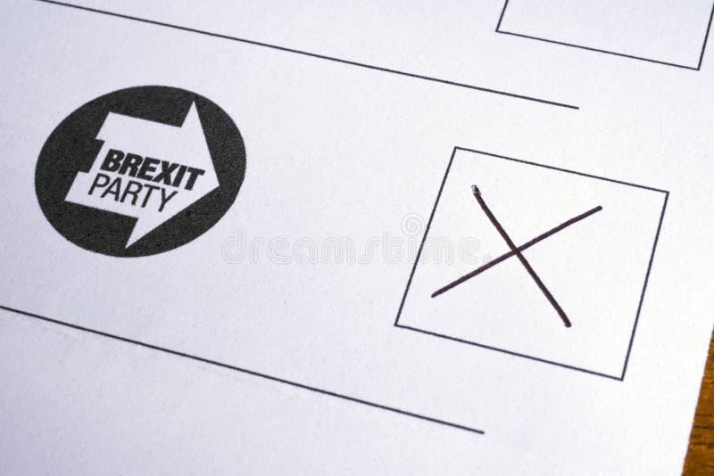 Brexit按照党之政策的投票 库存照片