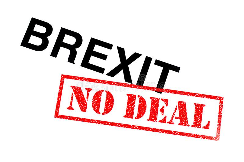 Brexit καμία διαπραγμάτευση στοκ φωτογραφία