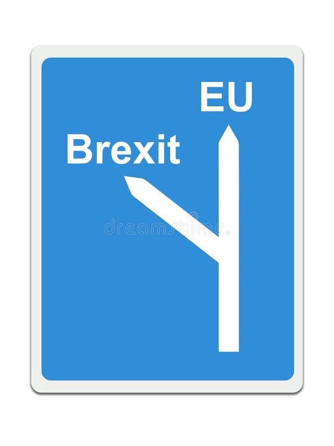 Brexit, дорожный знак EC на белой предпосылке Концепция, политика в Великобритании бесплатная иллюстрация
