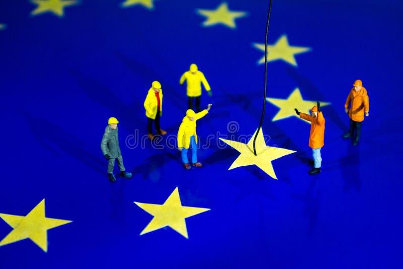 Brexit-Abbau lizenzfreies stockfoto