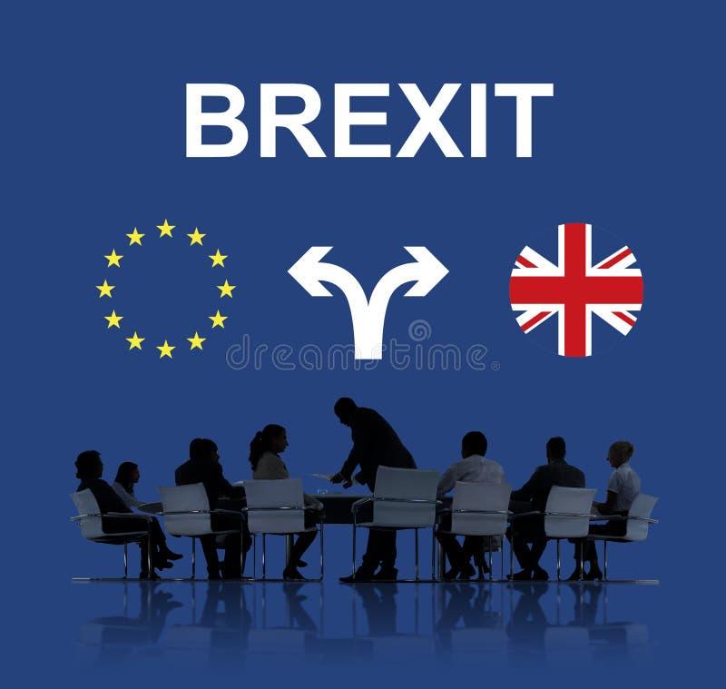 Brexit Anglia europejczyka flaga strzała pojęcie fotografia stock