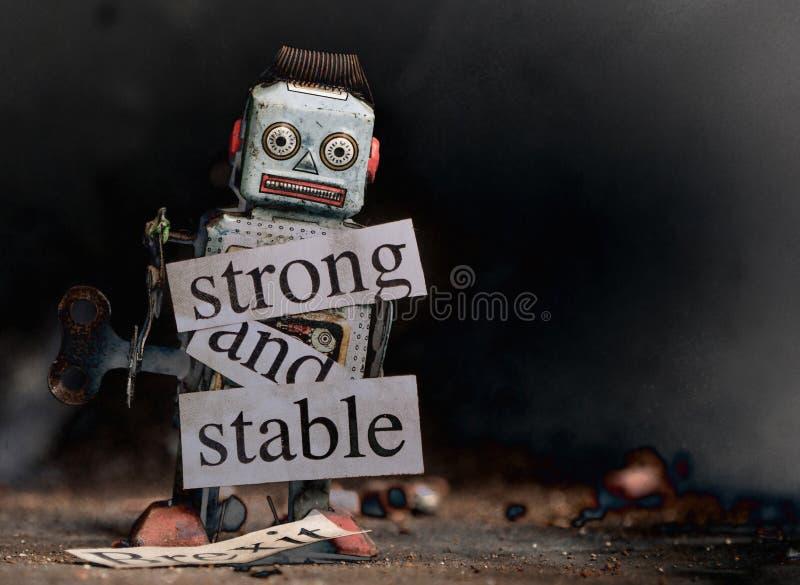 Brexit-Ausfallungs-Konzept starkes und stabiles brexit lizenzfreies stockfoto
