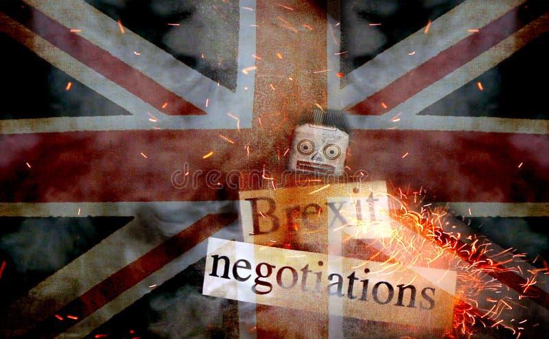 Brexit-Ausfallungskonzept lizenzfreie stockfotografie