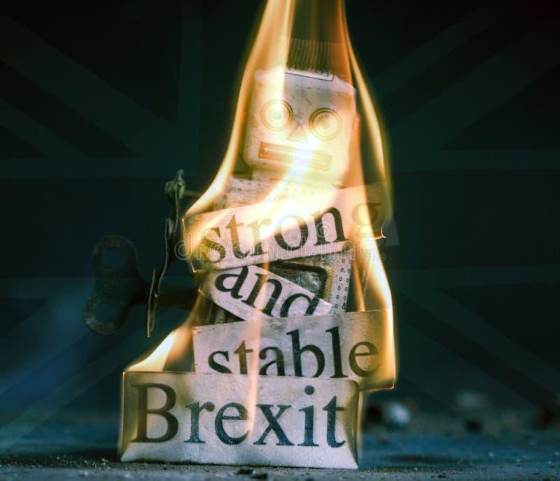 Brexit-Ausfallungskonzept lizenzfreie stockfotos