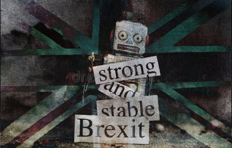 Brexit-Ausfallungskonzept lizenzfreies stockbild
