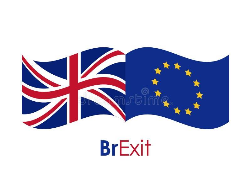 Brexit av den eruropean fackliga designen vektor illustrationer
