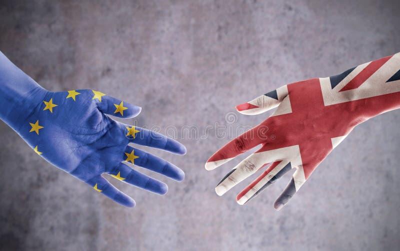 Brexit avtalshandskakning arkivbild