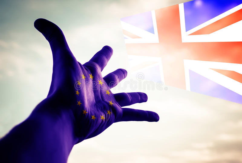 Brexit - begreppsmässig bild arkivfoton