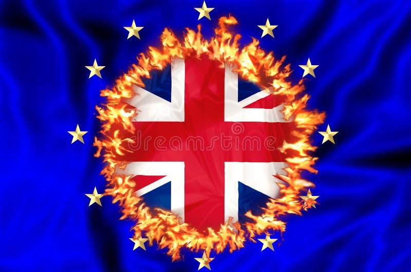 Brexit BRITANNIQUE en Europe illustration libre de droits