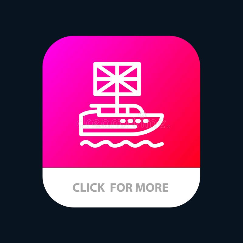 Brexit, British, European, Kingdom, Uk Mobile App Button. Android and IOS Line Version royalty free illustration
