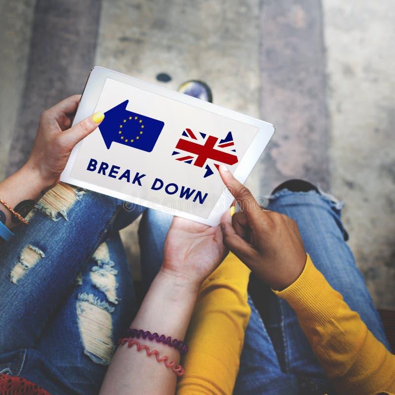 Brexit Brytania urlopu Europejskiego zjednoczenia referendum Skwitowany pojęcie zdjęcia royalty free
