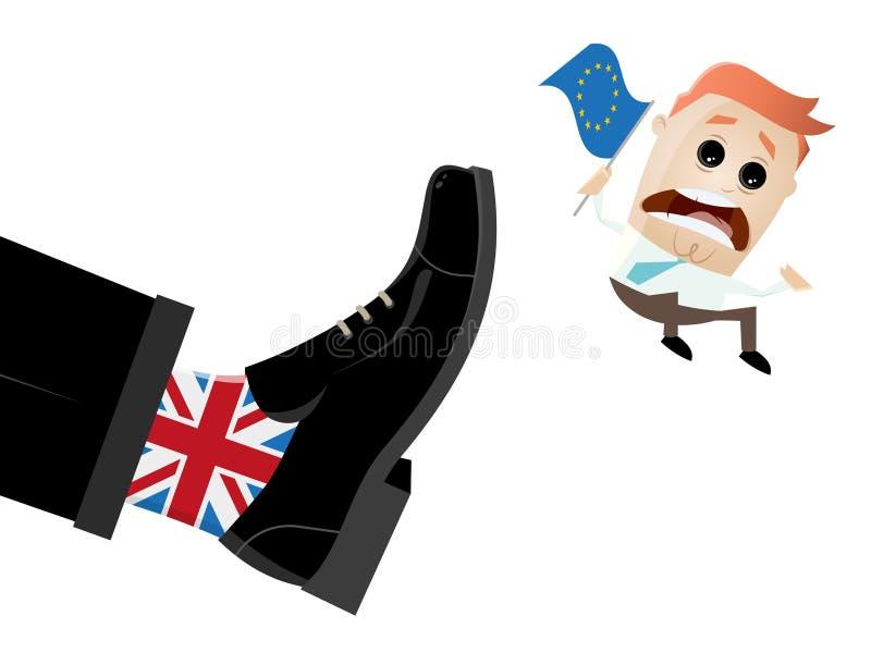 Brexit Brytania Wielka UE wychodzi ilustracja wektor