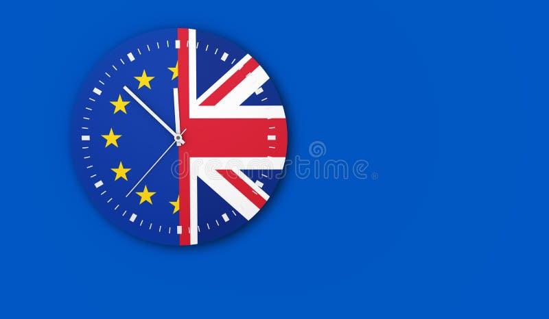 Brexit Clock Concept stock illustration