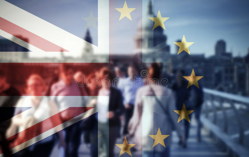 Brexit concept stock image