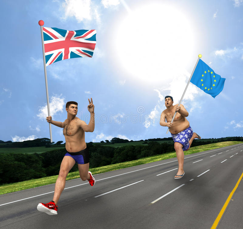 Brexit. Concept of a stronger United Kingdom after exiting EU stock illustration