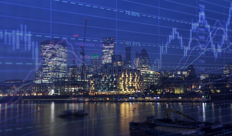 London business center royalty free stock photo