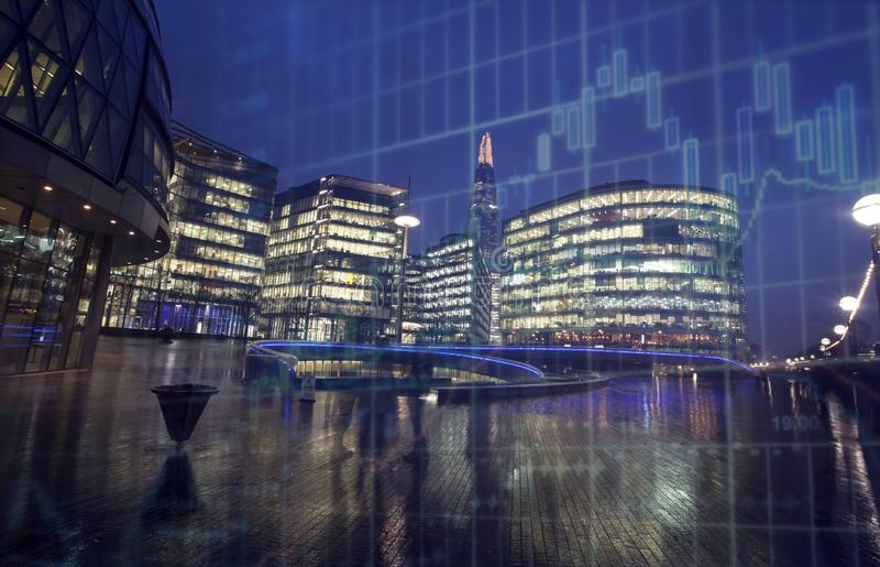 London business center stock photography