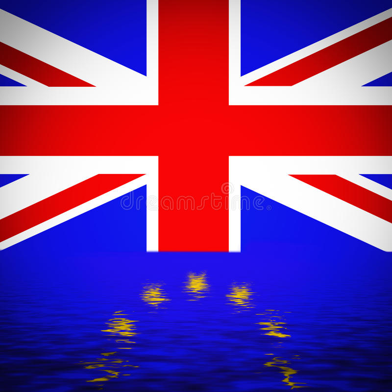 Brexit - Conceptual image. Great Britain Flag reflection with European Union Flag. Conceptual image vector illustration