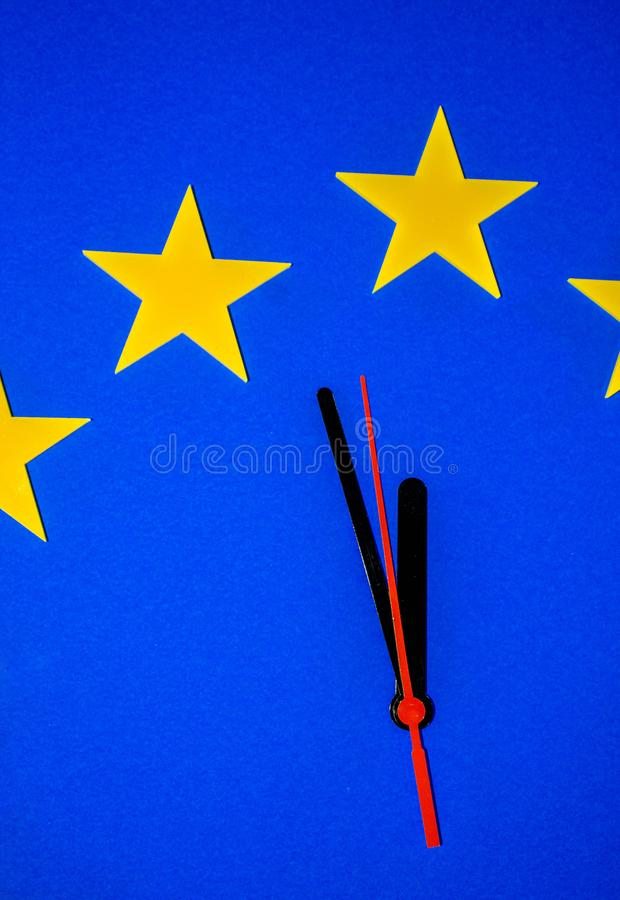 The Brexit Countdown royalty free stock images