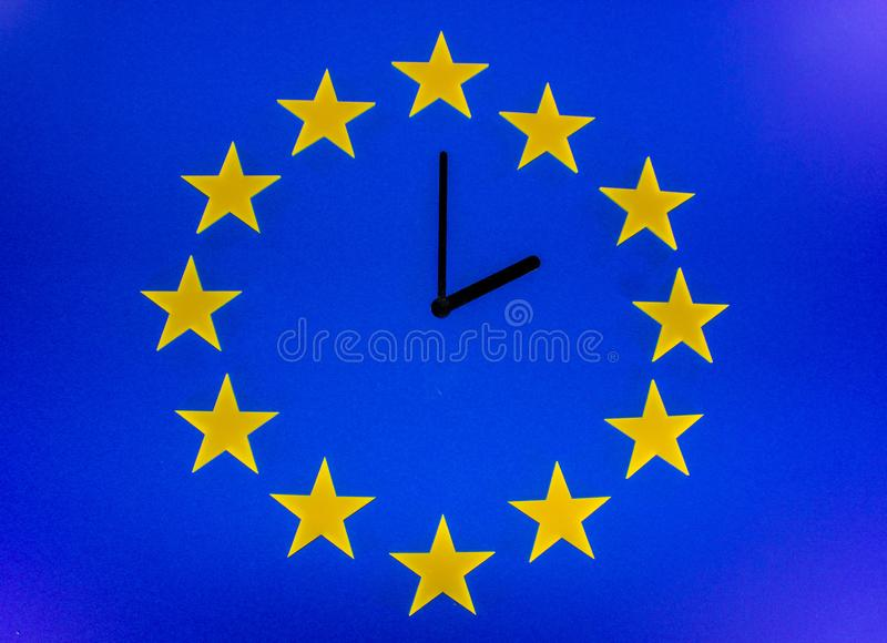 The Brexit Countdown royalty free stock photography