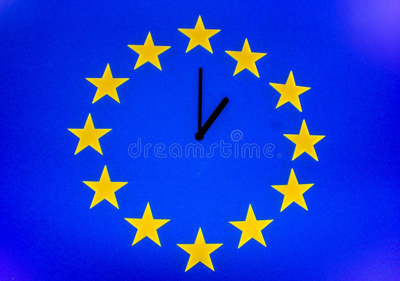 The Brexit Countdown stock images