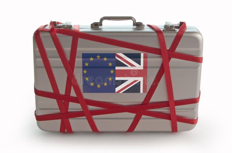 Brexit czerwona taśma zdjęcia stock