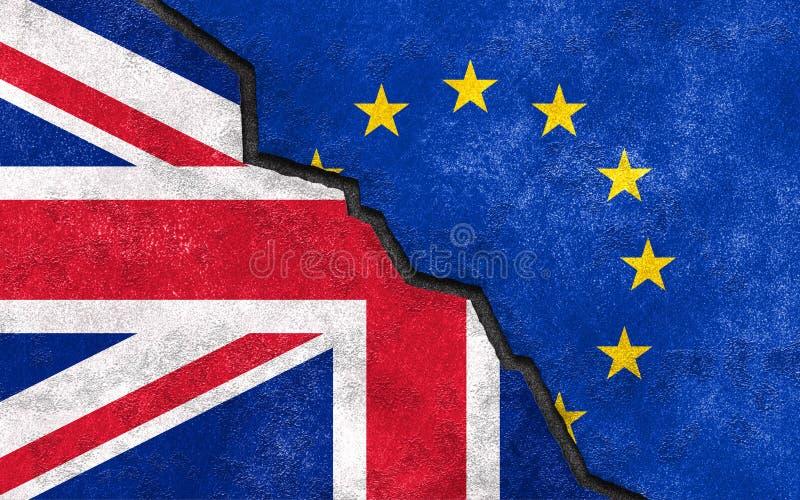 Brexit De uitgang van Groot-Brittannië van de EU Breuk tussen het UK en de EU stock illustratie