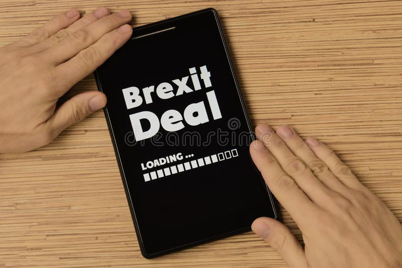 Brexit deal stock photography