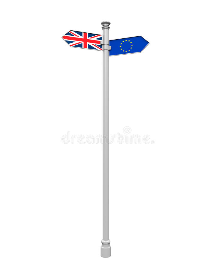 Brexit Direction Sign stock illustration