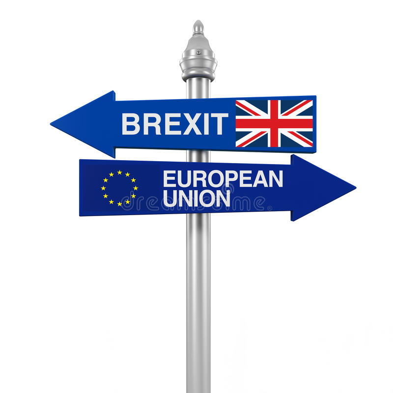 Brexit Direction Sign royalty free illustration
