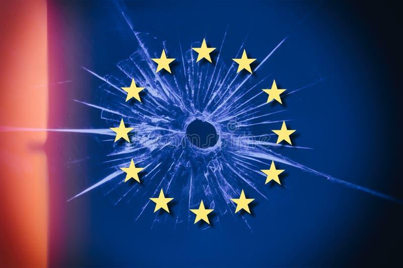 Brexit e l'Unione Europea di E. - fotografia stock