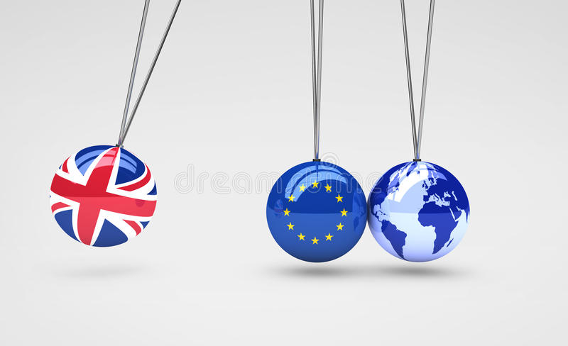 Brexit Effect And Global Business Consequences Concept stock illustration