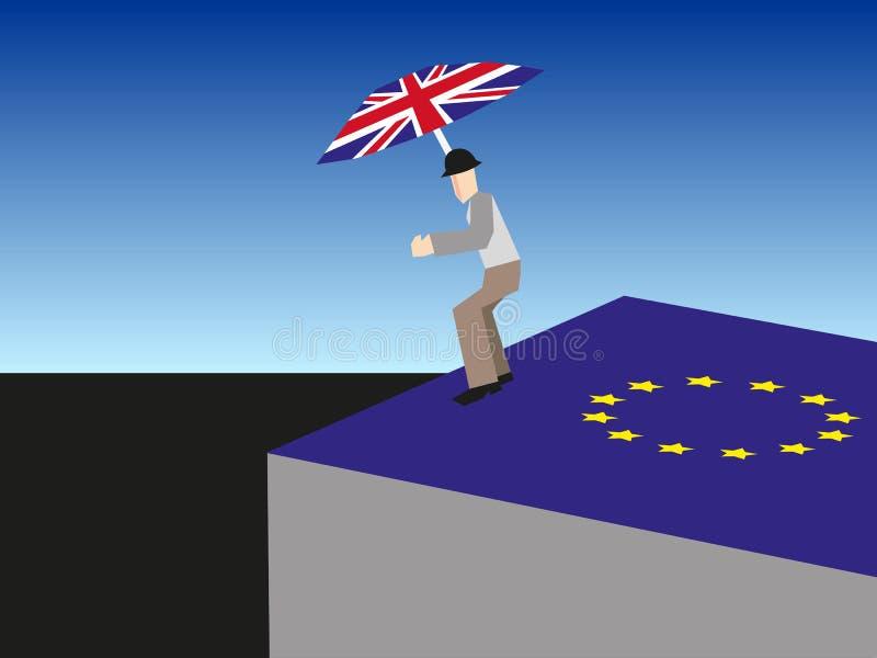Brexit - ein Sprung in der Dunkelheit lizenzfreie abbildung