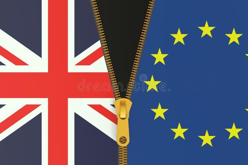 Brexit folkomröstningbegrepp vektor illustrationer