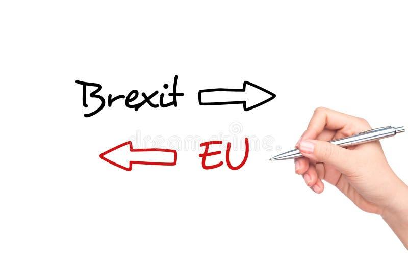 Brexit folkomröstningbegrepp arkivbilder