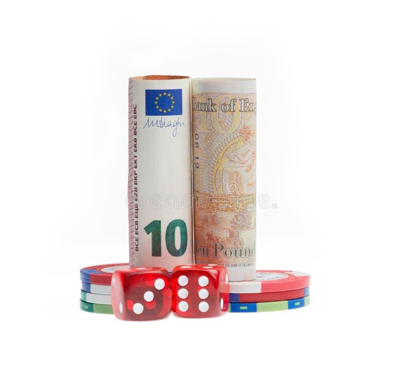 Brexit funtowego szterlinga UK Euro przyszłościowy wyzwanie fotografia royalty free