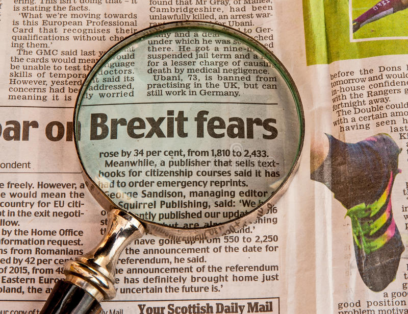 Brexit-Furcht lizenzfreie stockbilder