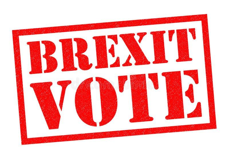 BREXIT głosowania pieczątka ilustracji