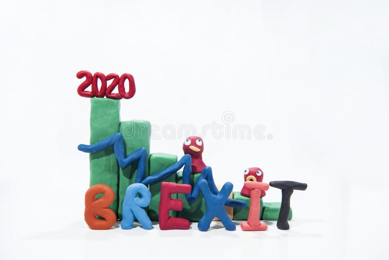 Brexit Graph από την Play Aluminium Αφηρημένη σύνθεση Τιμή νομισμάτων μετά το Brexit στοκ εικόνες